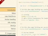 jQuery.LazyJaxDavis : Change static into dynamic – ajax based